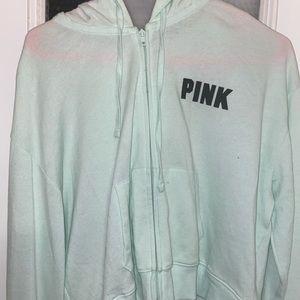 Victoria Secret Pink Sweater Zip Up